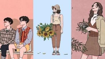 下班了需要被療癒~韓國OL必追的插畫家,畫風充滿濃濃療癒感啊