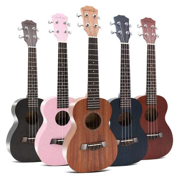 尤克里里初學者23寸ukulele彩色烏克麗麗夏威夷四弦小吉他