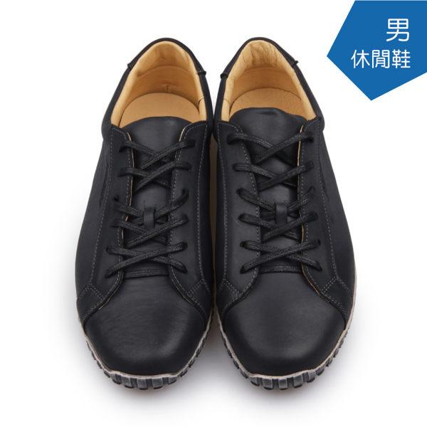 使用嚴選皮革製作 休閒氣墊鞋系列 行走時輕盈無壓力