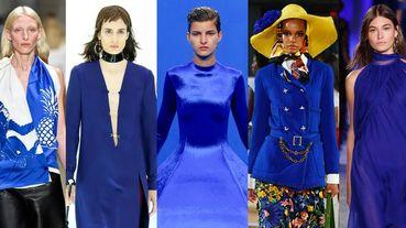 30套伸展台上的Pantone 2020趨勢代表色!2020春夏時裝周「經典藍Classic Blue」造型精選