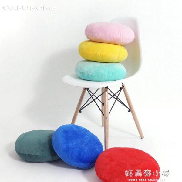 短絨圓形太鼓抱枕靠墊沙發靠枕居家枕辦公室午睡腰靠 好再來小屋