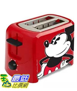 [美國直購] Disney DCM-21 米奇 米老鼠圖案 烤麵包機 吐司機 Mickey Mouse 2 Slice Toaster, Red/Black