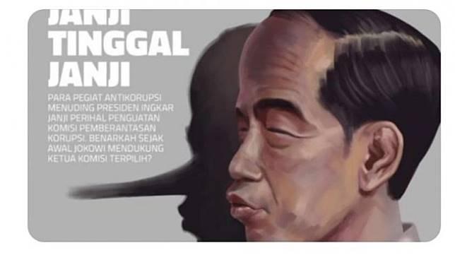 Karikatur Jokowi di Majalah Tempo.