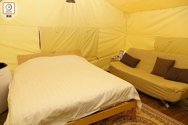 部落營面積約有500平方呎,啱晒小家庭選用。(胡振文攝)