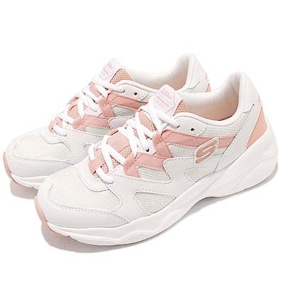 品牌: SKECHERS型號: 88888162WCRL品名: D Lites Airy Space Twist配色: 粉紅色 白色特點: 復古 網美 球鞋 穿搭 蝴蝶鞋帶 粉 白