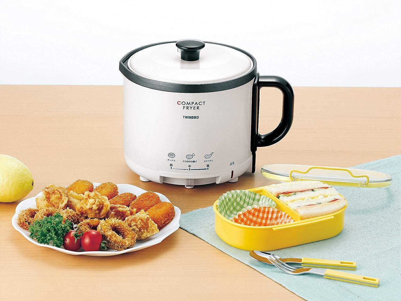 日本公司貨 Twinbird 雙鳥牌 小型油炸鍋 EP-4694PW  電炸鍋 適合小家庭 薯條 鹽酥雞 天婦羅油炸鍋 比氣炸鍋 安全 油溫可調 日本必買代購