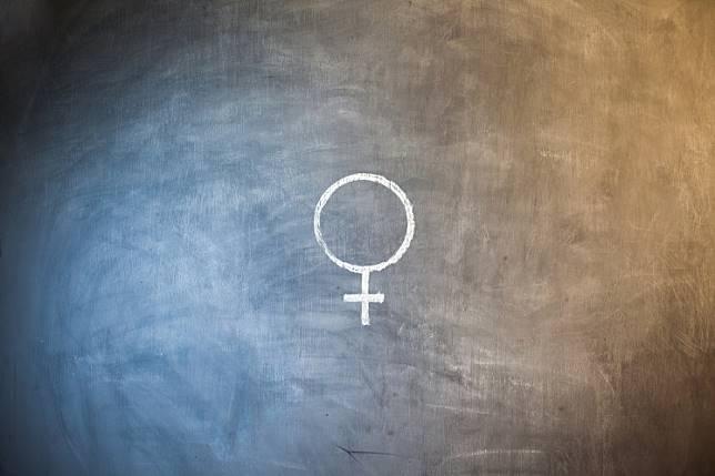 Female icon illustration.