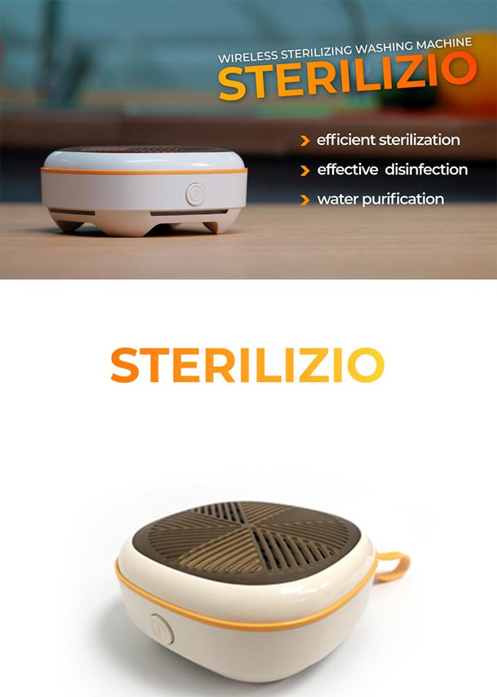 sterilizio 微型無線便攜式口袋旅行日常電解洗衣機全自動無需手動出差旅行居家必備 sterilizio是你清潔消毒衣服的最佳小幫手無需添加任何洗衣精消毒率高達99以上可清潔內衣輕薄衣物蔬果嬰幼
