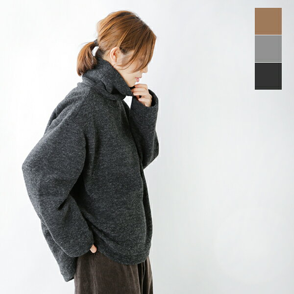 my beautiful landlet(我的漂亮的大地让)银子混合编织物高领宽大的套衫wm15-tp192151-ms