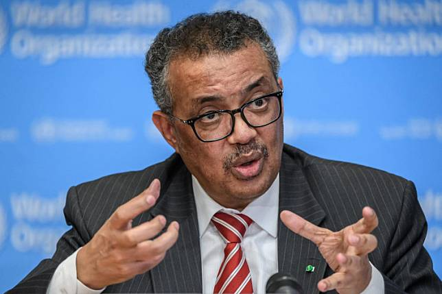 World Health Organization (WHO) Director-General Tedros Adhanom Ghebreyesus talks during a daily press briefing on COVID-19 virus at the WHO headquaters in Geneva on March 11, 2020. WHO is reviewing a report that suggested its advice on the novel coronavirus needs updating, after some scientists told the New York Times there was evidence the virus could be spread by tiny particles in the air.