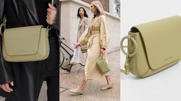 搶先看CHARLES & KEITH「鼠尾草綠」新品包!這個秋冬就用綠色系包款引領時尚吧~
