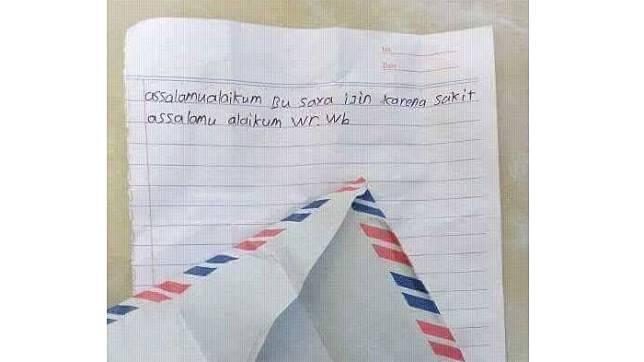 Lihat Kids Jaman Now Ini Nulis Surat Izin Singkat Banget