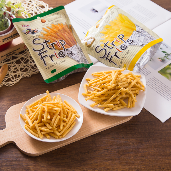 Oishi 薯條三兄弟-海苔/原味 越南知名品牌【Oishi 】新作 吃起來口感沒有日本品牌三兄弟這麼硬 更適合給家裡的小朋友吃 酥脆唰嘴一條接一條停不下來:) 有兩種口味(原味/海苔)風味不同一樣好
