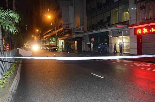 警方封鎖現場調查。蔡楚輝攝