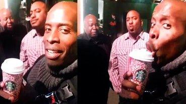 黑人遇到美國警察時如何自保?萬用爆笑妙招:「拿一杯星巴克啜飲,一秒變好人!」