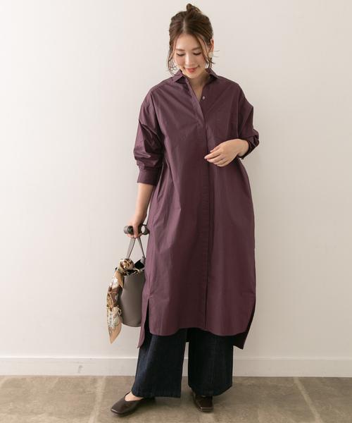 寬鬆襯衫式連身裙