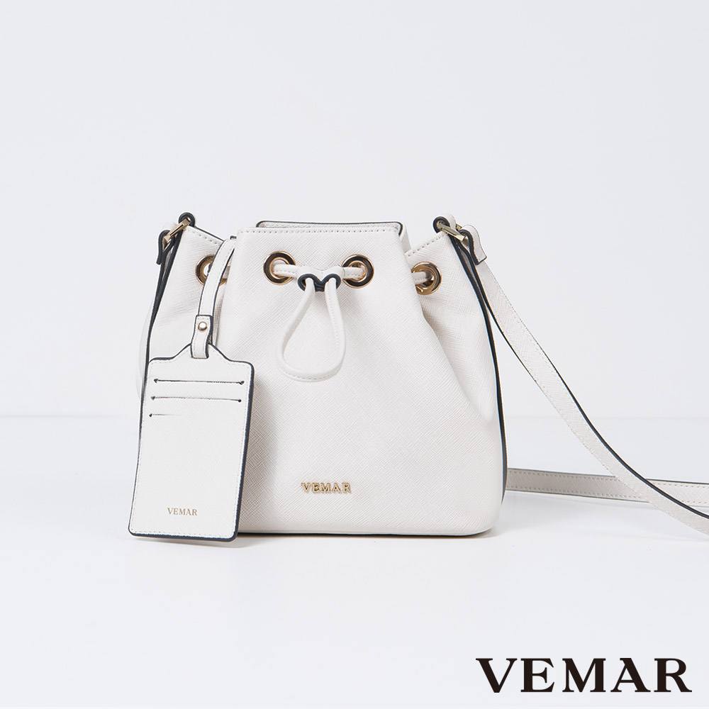 【VEMAR】輕量優雅迷你水桶包(柔和灰)