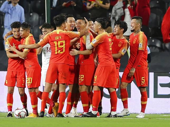 中國隊連續兩場於分組賽勝出。(美聯社)