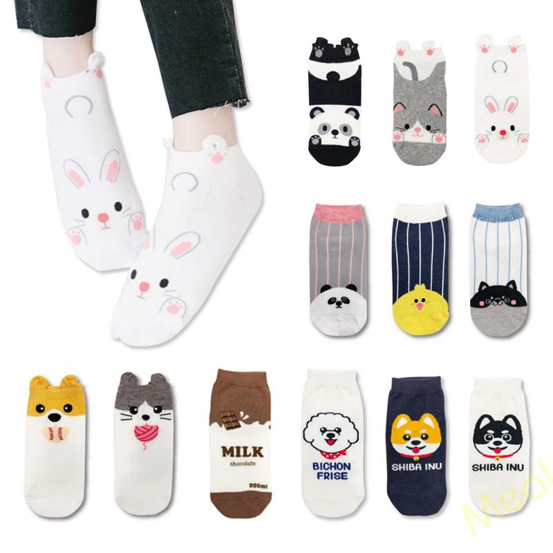 萌系俏皮 台灣製純棉短襪 韓妞必備少女襪 土司 巧克力 哈士奇 熊貓 柴犬 米格魯 牛頭梗 兔子 毛線 牛奶 鐥裝襪品