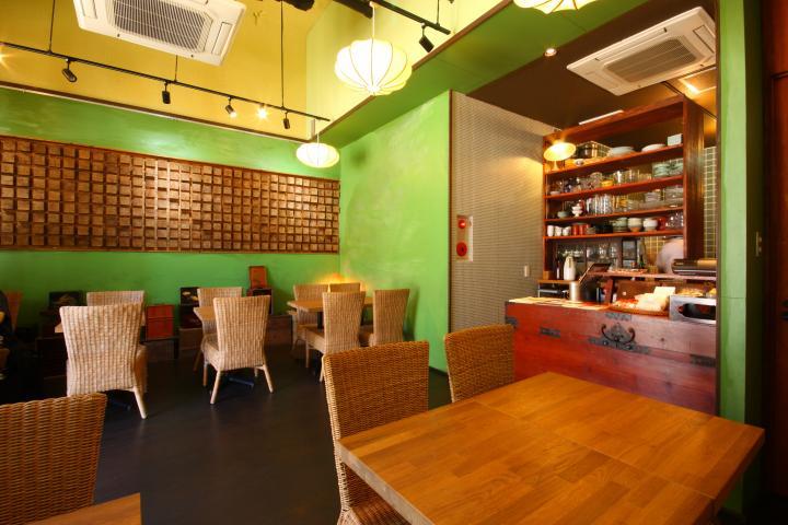 福岡咖啡 抹茶店內