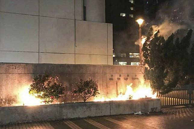 Hong Kong barristers condemn arson attack on court building, calling it 'corrosive' to rule of law