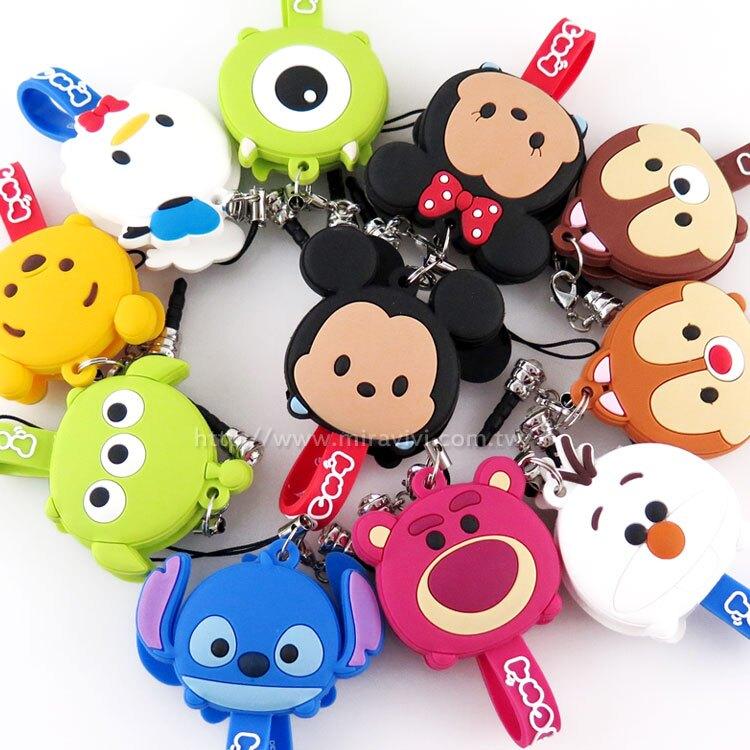 【Disney】 TSUM TSUM 可愛造型耳機防塵塞吊飾捲線器/集線器。手機與通訊人氣店家Miravivi的Disney、其他周邊有最棒的商品。快到日本NO.1的Rakuten樂天市場的安全環境中