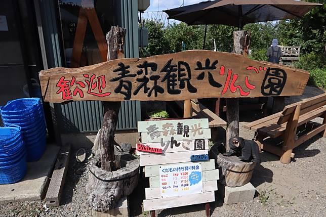 花300日圓(HK$22)就能即場採3顆蘋果,很便宜呢。(劉達衡攝)