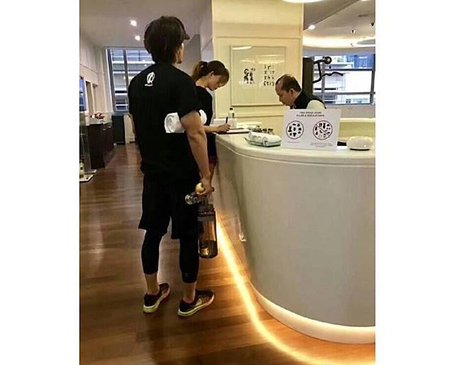 林志玲年前被拍到跟言承旭一同健身,而宣告世紀復合。