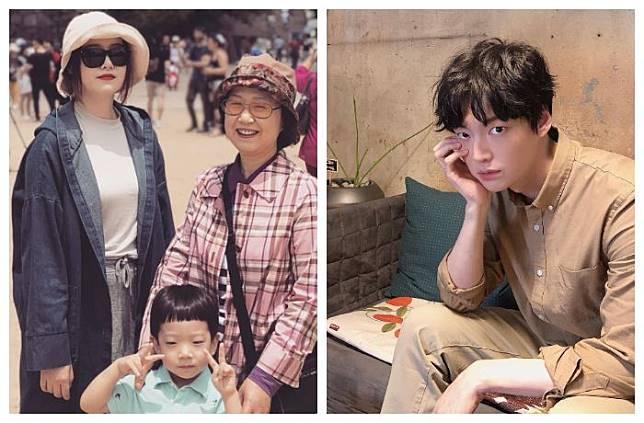 Kolase foto keluarga Goo Hye Sun dan Ahn Jae Hyun.