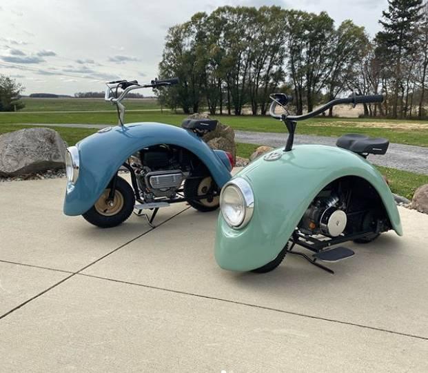 Volkspod, minibike yang terinspirasi dari VW Beetle.