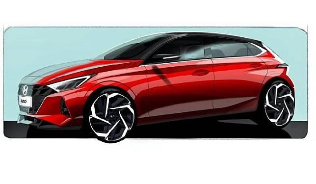 Sketsa hatchback Hyundai i20. Sumber: carscoops.com
