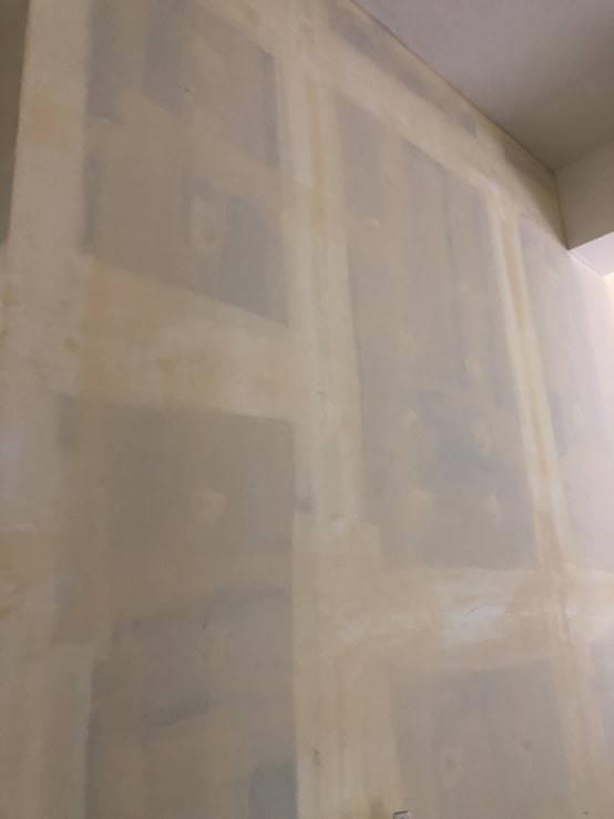 圖示:輕隔間牆批土