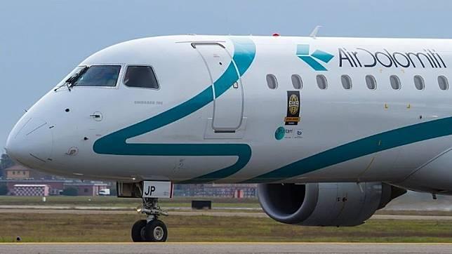 Air Dolomiti是今年1月成為漢莎航空集團新成員,以幕尼黑和法蘭克福飛往意大利不同城市為主。(互聯網)