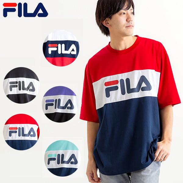 FILA - 日本限定 FM4799 拚色 胸口燙印大LOGO 短T (多色) 化學原宿