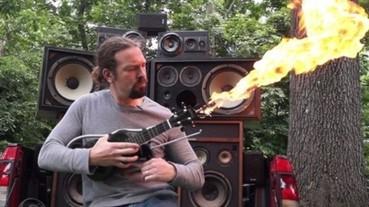 向《瘋狂麥斯》致敬 他自製噴火吉他!