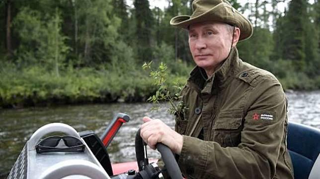 Presiden Vladimir Putin sedang berlibur di Siberia, Rusia. (AFP/Alexey Nikosky)