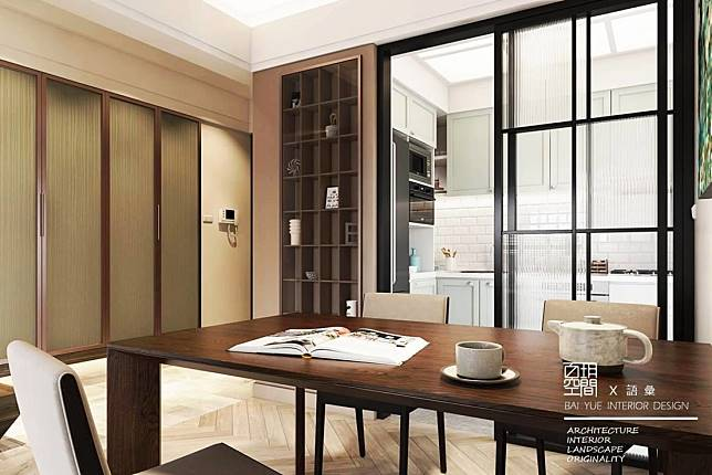 1. 推拉門與展示櫃的細緻共構
