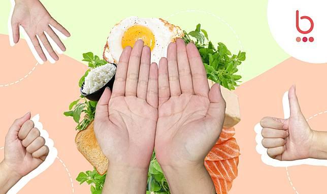 เทียบสัดส่วนอาหารด้วยมือ สำหรับคนคุมน้ำหนัก