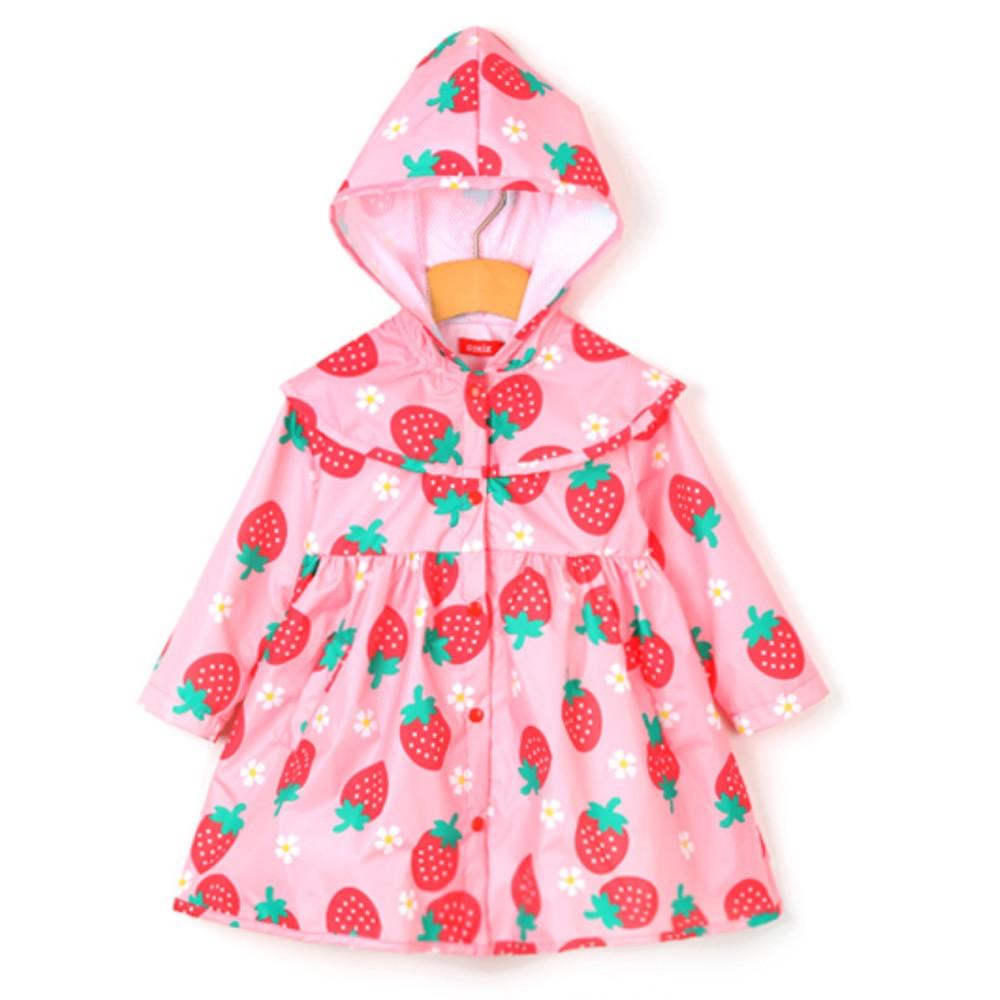 韓國 OZKIZ - 三層透氣防風雨衣(抓腰款)-草莓派對