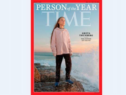 Greta Thunberg di kover majalah Time setelah dinobatkan sebagai Person of the Year