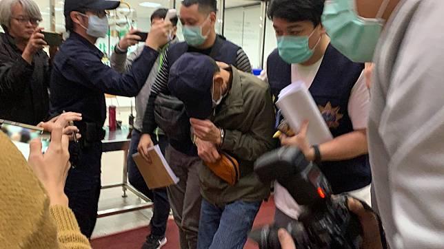 男子陳劍輝前天在台北市中山區板信商業銀行大直分行,開槍打中一名保全人員並劫走78萬元。記者賴佩璇/攝影。