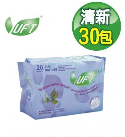 UFT 蘆薈草本精華日用衛生棉20片x10包