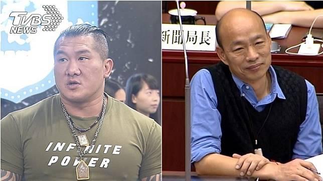 知名網紅「館長」陳之漢(左)、高雄市長韓國瑜(右);圖/TVBS