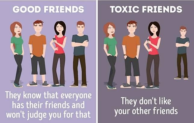 7 Ilustrasi yang Membedakan Antara Teman yang Baik dan Toxic Friends |  Provoke-online.com | LINE TODAY