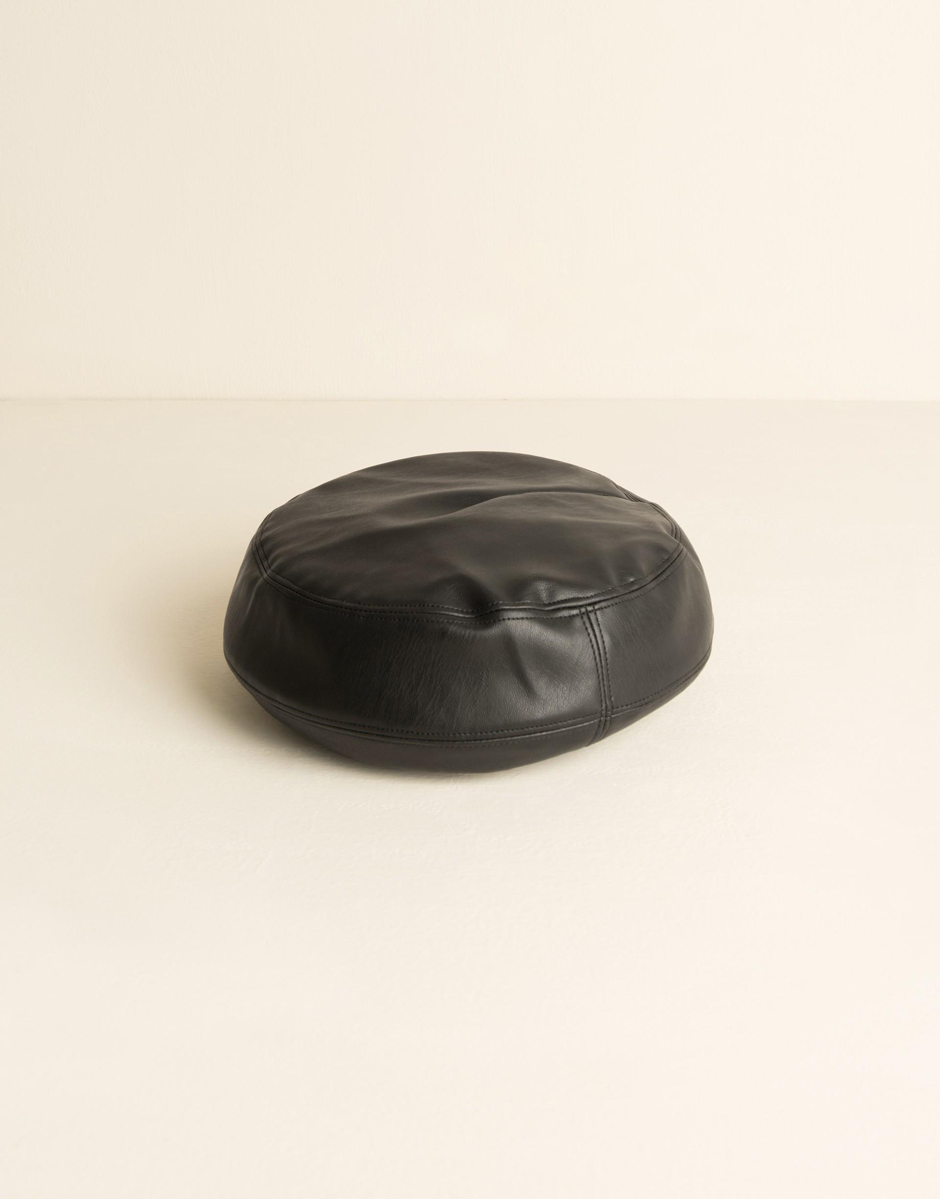質感合成皮革面料/頭圍可調整鬆緊