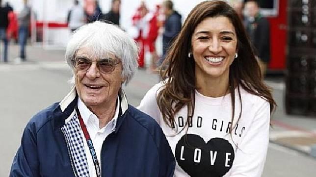 Bernie Ecclestone dan istri ketiganya. LAT