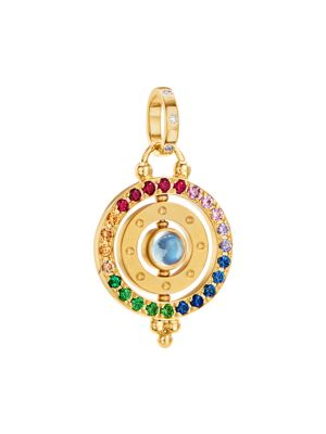 From the Celestial Collection. Bands of gleaming 18K gold and multicolor gemstones delineating the o