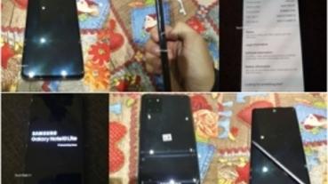 平面螢幕、有 S Pen,三星 Galaxy Note 10 Lite 實機面貌曝光