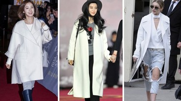 范爺、金泰熙穿著的外套怎麼那麼美!令大衣控又愛又恨的「白色大衣」
