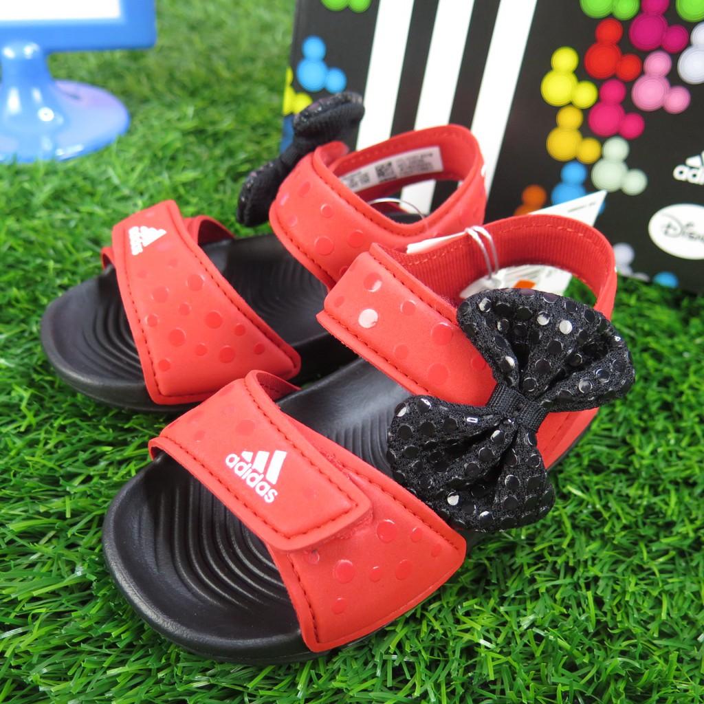 iSport愛運動 adidas 聯名米妮 蝴蝶結 魔鬼氈 涼鞋 CQ0108 小童鞋 DY M&M ALTASWI聯名